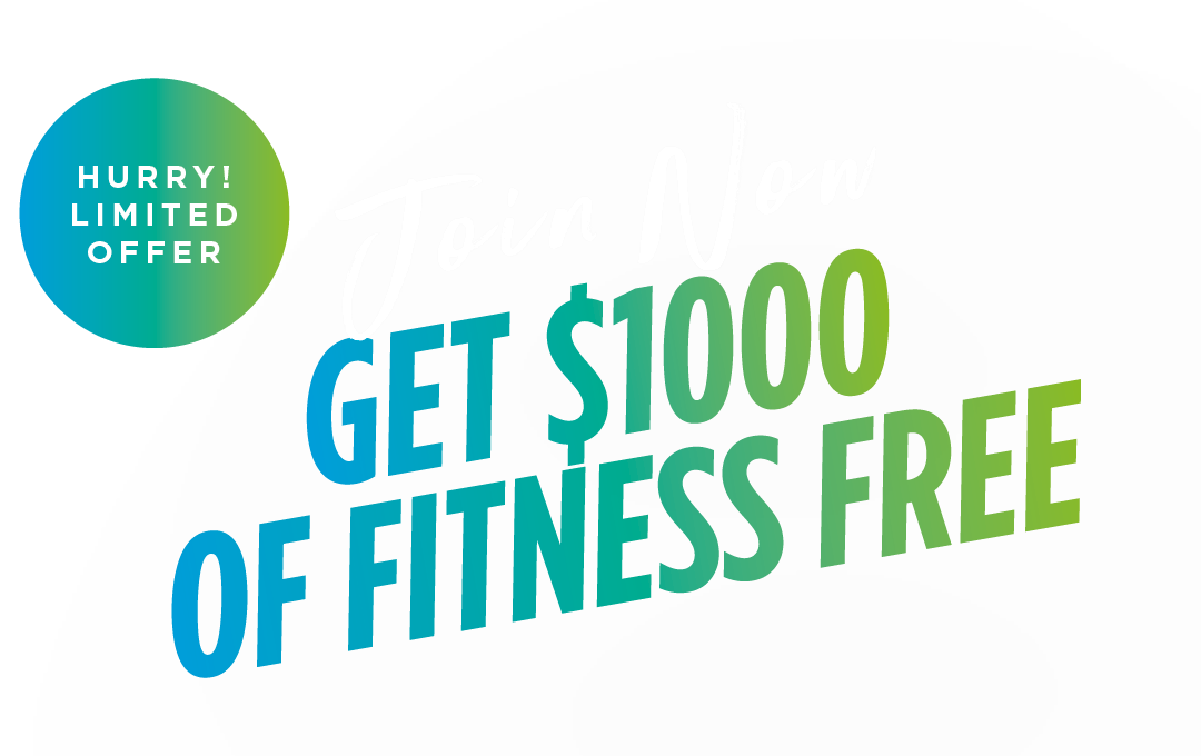 Join in June get $1000 of fitness free